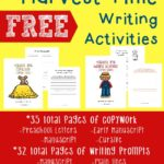 {free} Harvest Time Writing Activities