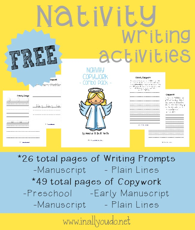 teach your kids the importance of christ this christmas season with these nativity themed writing activities