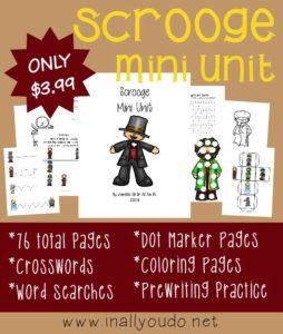 Scrooge Mini Unit Study