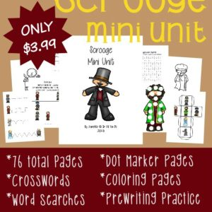 """If you love """"A Christmas Carol"""" by Charles Dickens, you'll love this NEW Scrooge Mini Unit!! It includes activities for Tots to 5th grade!! :: www.inallyoudo.net"""