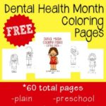 Dental Health Month Coloring Pages {free printables}