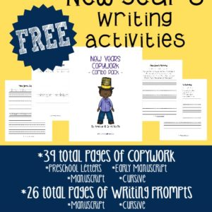 A great way to jump back into school with these fun New Year's Writing Activities. Includes 65 total pages for PreK - 5th grade!! :: www.inallyoudo.net