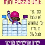 FREE Snowy Days Mini Puzzle Unit {28 pages}