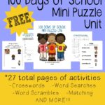 100 Days of School Mini Puzzle Unit {free printable}