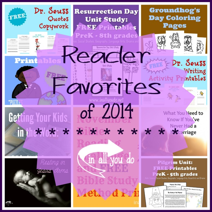 Browse through the Top 10 Reader Favorites of 2014 from In All You Do :: www.inallyoudo.net