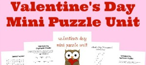 This fun Valentine's Day Mini Puzzle printable set includes puzzles & activities for PreK to 5th grade ~ Crosswords, Word Searches, Cryptograms & MORE!! :: www.inallyoudo.net