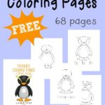 Penguins Coloring Sheets {68 total pages}