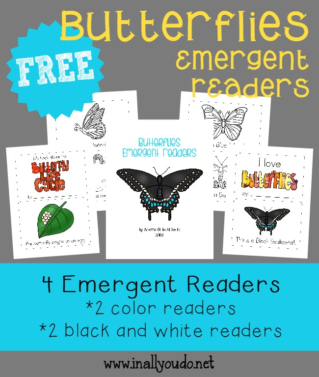Kids will have fun learning about butterflies with these Life Cycle and Types of Butterflies Emergent Readers! :: www.inallyoudo.net