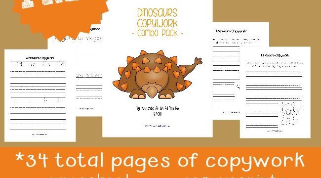 FREE Dinosaur Writing Activities {78 total pages}