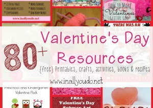 Valentine's Day is just around the corner!! Check out these 80+ Resources including {free} printables, sensory activities, science projects & MORE!!  :: www.inallyoudo.net