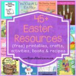 Easter is just around the corner and these 45+ resources are sure to help you along the way! This list includes printables, crafts, activities, books & recipes!! :: www.inallyoudo.net