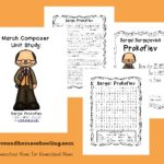Study a new composer every month with this fun Monthly Composer Study! April focuses on Sergei Prokofiev!! {free printables} :: www.inallyoudo.net