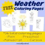 These SUPER CUTE Weather Coloring Pages include handwriting practice and are perfect for any age!! :: www.inallyoudo.net