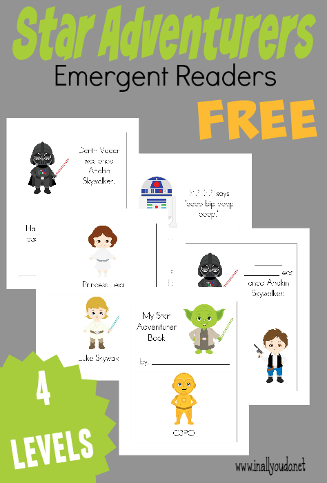 What boy doesn't love Star Wars? Grab these fun Star Adventurer Emergent Readers for some fun reading!! {4 levels} :: www.inallyoudo.net