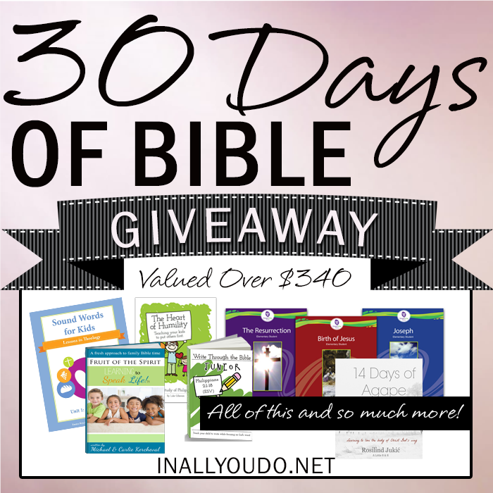 30 Days of Bible Giveaway