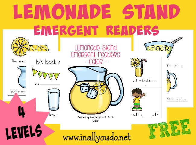 Little ones will enjoy these super cute and fun lemonade stand emergent readers includes