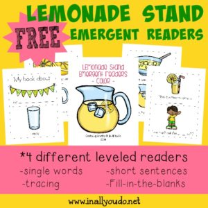 Little ones will enjoy these SUPER CUTE and FUN Lemonade Stand Emergent Readers!! Includes 4 different levels! :: www.inallyoudo.net