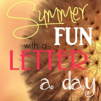 Summer is just around the corner and you're sure to hear the word BORED at least a time or two. So why not mix it up this summer with fun Letter a Day activities! :: www.inallyoudo.net