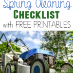 Get started with your Outdoor Spring Cleaning and easily keep track with this printable checklist! Comes in 6 Spring-y colors too!! :: www.inallyoudo.net