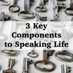 Speaking Life in to your children and family isn't easy. Here are 3 Key Components to help you Speak Life! #30DaysBible :: www.inallyoudo.net