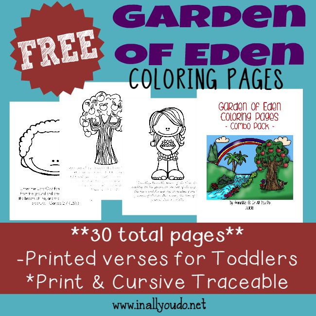 Grab These Garden Of Eden Themed Printables To Help Kids Learn The