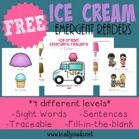 Little ones will enjoy practicing their reading skills with these SUPER CUTE Ice Cream Emergent Readers! {4 levels} :: www.inallyoudo.net