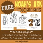 Noah's Ark Coloring Pages, Emergent Readers & MORE!