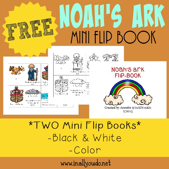 FREE Noahs Ark Mini Flip Book_Square