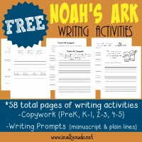 Help kids remember the Scriptures with these FUN Noah's Ark Writing Activities. {58 total pages} :: www.inallyoudo.net