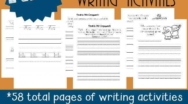 Noah's Ark Writing Activities & Puzzles {free}