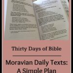 Moravian Texts: Sweet and Simple Bible Study