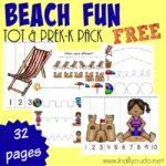 Beach Fun Tot & PreK-K Pack {subscriber freebie}