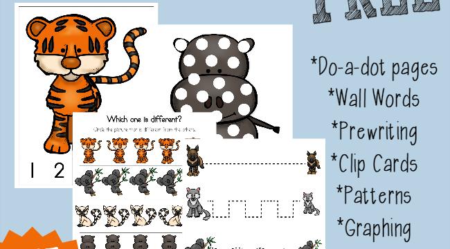 Endangered Animals Tot & PreK-K Pack {subscriber freebie}
