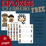 Explorers Tot & PreK-K Pack {sub freebie}