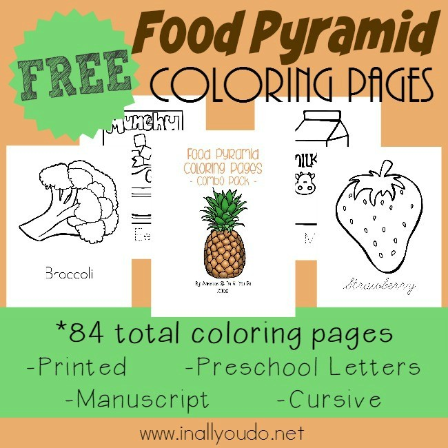 Food Pyramid Coloring Pages Emergent Readers