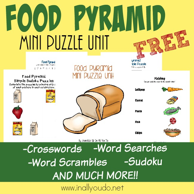 Kids Will Enjoy Learning About The Food Pyramid With These Puzzles And Writing Activities