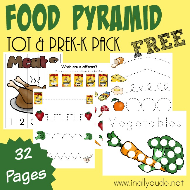 Food Pyramid Writing Activities, Puzzles & Tot Pack - In All You Do