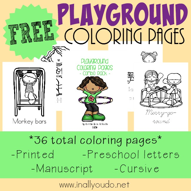 free playground coloring pages - Free Playground Coloring Pages