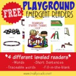 Playground Emergent Readers {subscriber freebie}