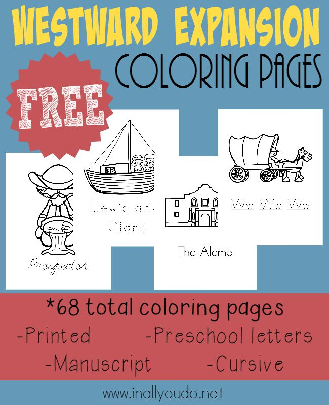these fun coloring pages are a great starting point for a study on the oregon trail