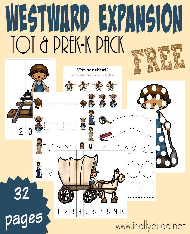 Westward Expansion Tot PreKK Pack In All You Do – Westward Expansion Worksheets