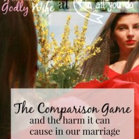 Have you ever played the comparison game in your marriage? Comparing your marriage to another can cause bitterness and division in your home. Don't let it happen to you! :: www.inallyoudo.net