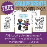 Grandparents Coloring Pages & Emergent Readers