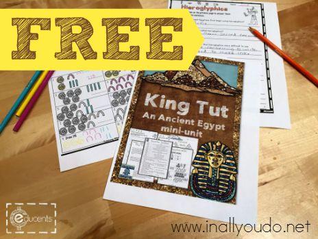 FREE King Tut & Ancient Egypt Mini-Unit