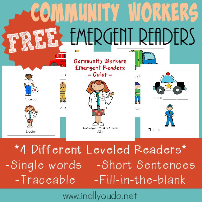 FREE Community Workers Emergent Readers_square
