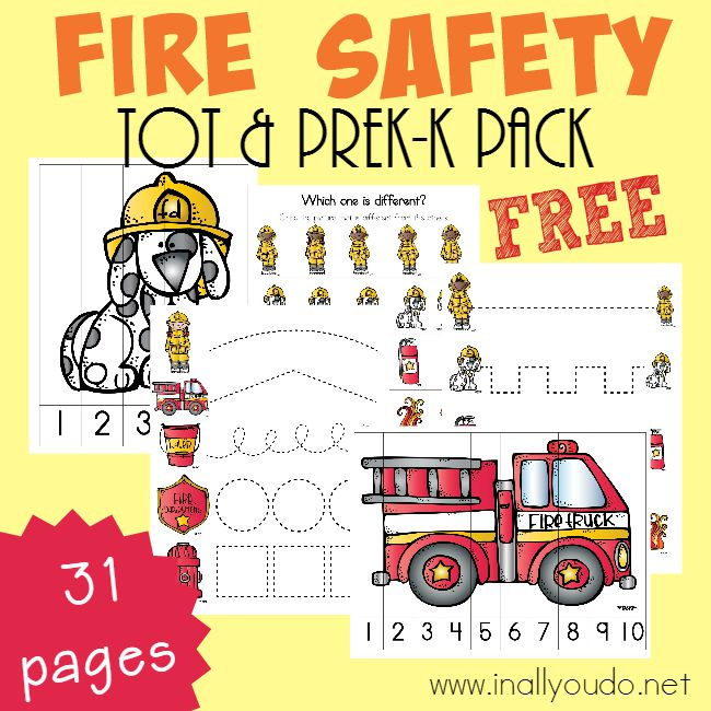 Fire Safety Tot & PreK Printables