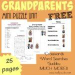 FREE Grandparents Mini Puzzle Unit