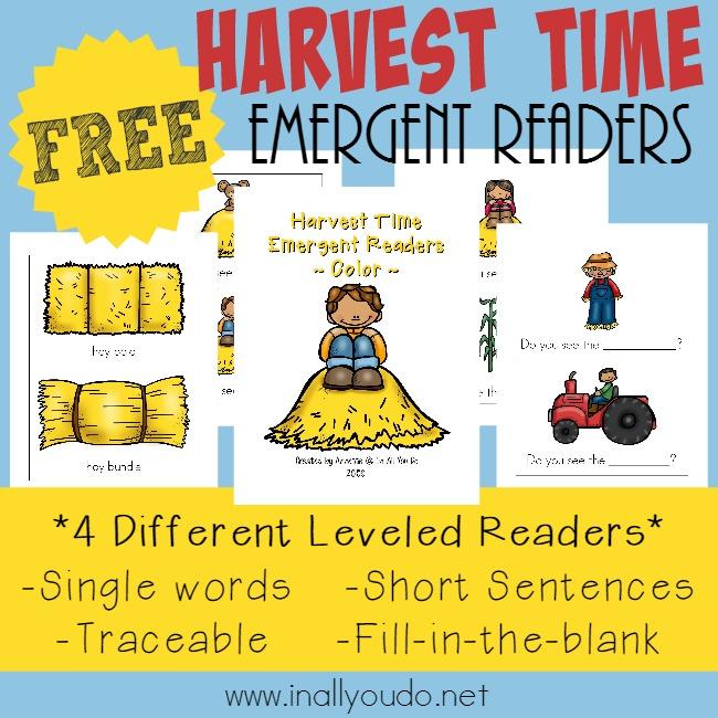 Harvest Time Emergent Readers