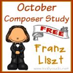 October Composer Unit Study: Franz Liszt {free printables}
