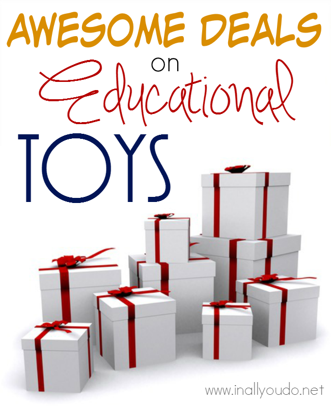 Educational Toys & Games are some of my kids most favorite gifts! And now is the PERFECT time to stock up with these AWESOME DEALS from Educents!! :: www.inallyoudo.net